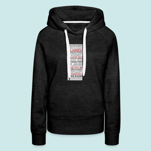 Myopia Poster 2 - Sweat-shirt à capuche Premium pour femmes