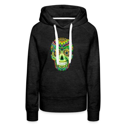 El día de los Muertos Cranes motif - Sweat-shirt à capuche Premium pour femmes