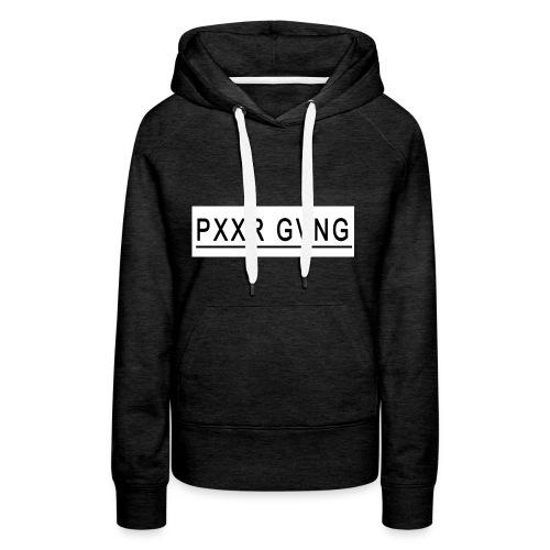 PXXR GVNG - Sudadera con capucha premium para mujer