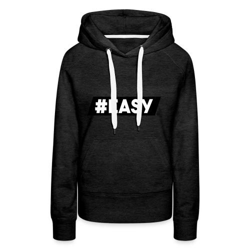 #EASY Classic Logo T-Shirt - Felpa con cappuccio premium da donna