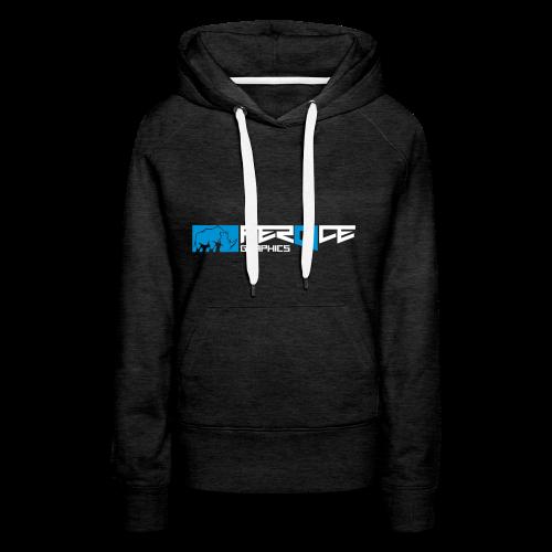 logo_feroce - Sweat-shirt à capuche Premium pour femmes