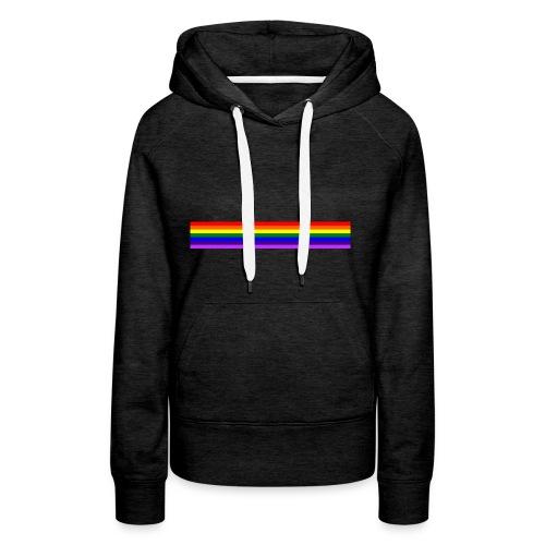 Bande arc en ciel/rainbow band - Sweat-shirt à capuche Premium pour femmes