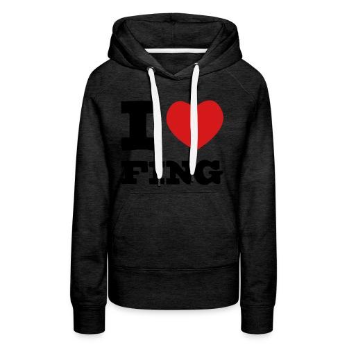 I Love FIng - Premiumluvtröja dam