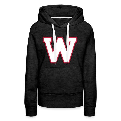 W-badge - Sweat-shirt à capuche Premium pour femmes