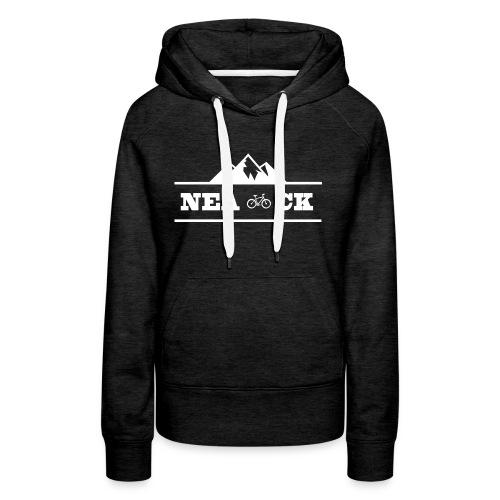 NeaCK hvit logo - Premium hettegenser for kvinner