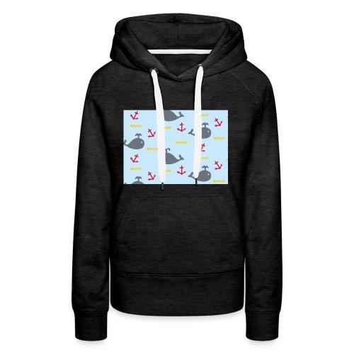 Whale Case - Sudadera con capucha premium para mujer