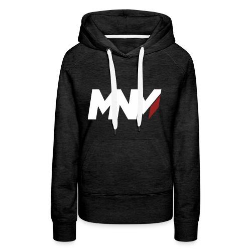 MNM With RED WHITE Corner - Women's Premium Hoodie