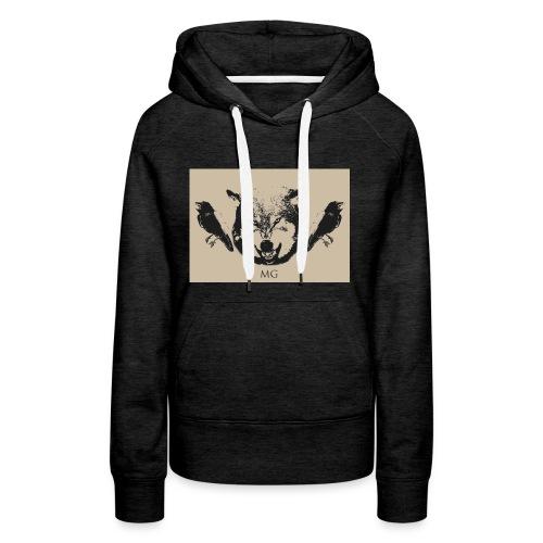 Wolf und Raben - Frauen Premium Hoodie