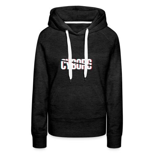 CYBORG_3D_BARRE - Sweat-shirt à capuche Premium pour femmes
