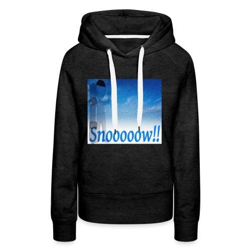 Snoooooow - Premium hettegenser for kvinner