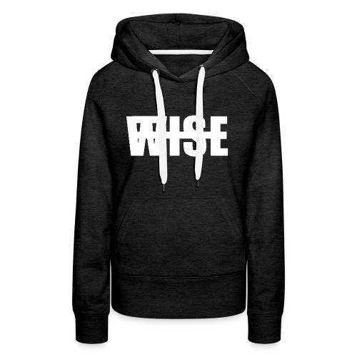WISEFINALwhite - Women's Premium Hoodie