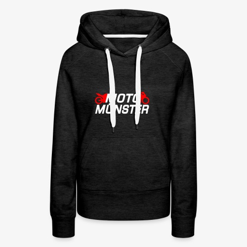 MotoMünster Logo mit weißer Schrift - Frauen Premium Hoodie