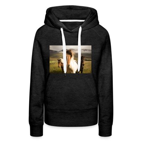 Islandpferde - Frauen Premium Hoodie