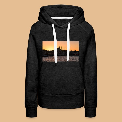 Istanbul_Sea_Urban_Sunset_Ultra_HD - Sweat-shirt à capuche Premium pour femmes
