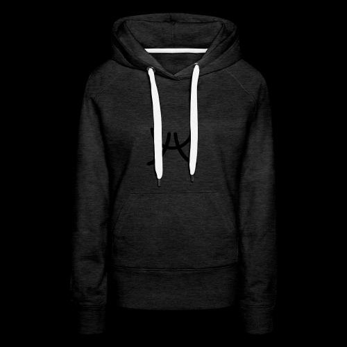 AW1 Design zwart - Vrouwen Premium hoodie