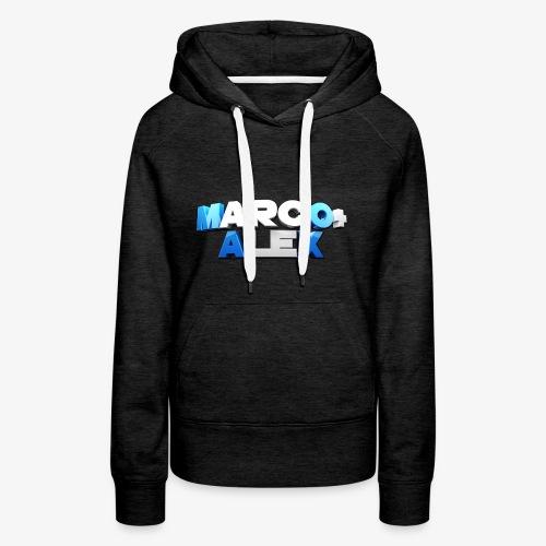 Logo Marco+Alex - Felpa con cappuccio premium da donna