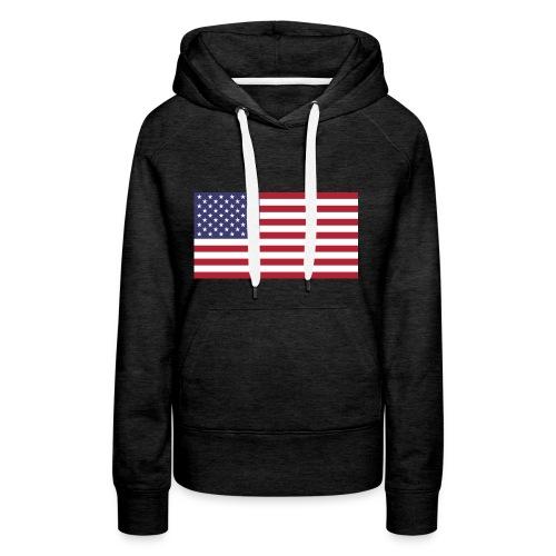 Small American Flag - Women's Premium Hoodie