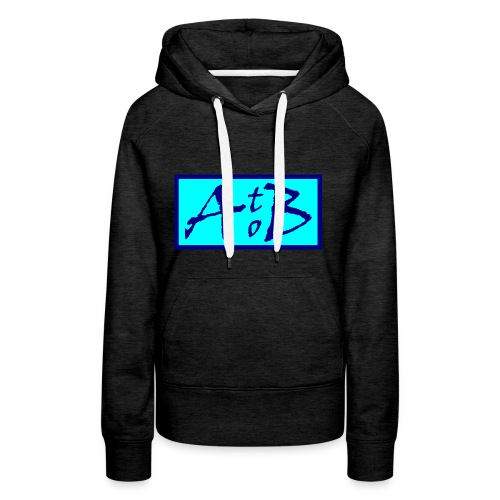 AtoB Logo light blue - Women's Premium Hoodie