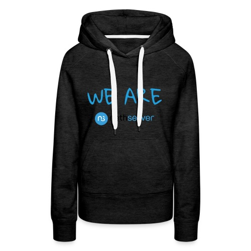 blue-black-rectangle - Women's Premium Hoodie