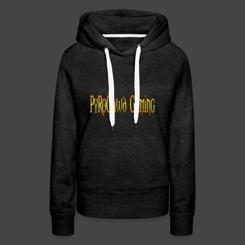 PyroGawd Logo Text - Frauen Premium Hoodie