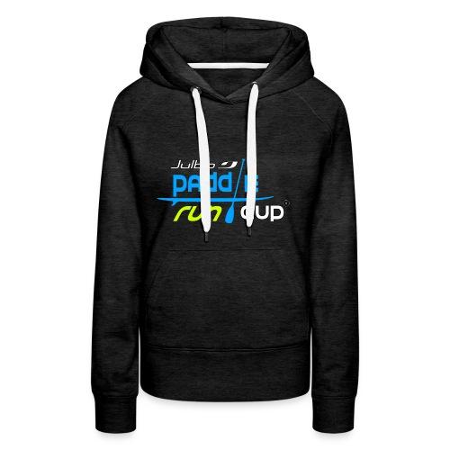 SPREADSHIRT_Logos_Paddle_Run_v3_-3- - Sweat-shirt à capuche Premium pour femmes