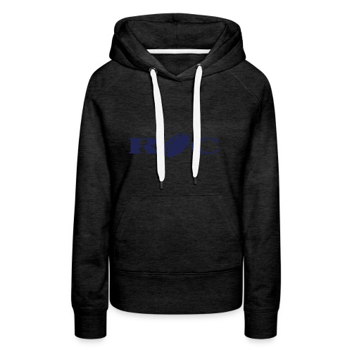 ROC-bleu - Sweat-shirt à capuche Premium pour femmes