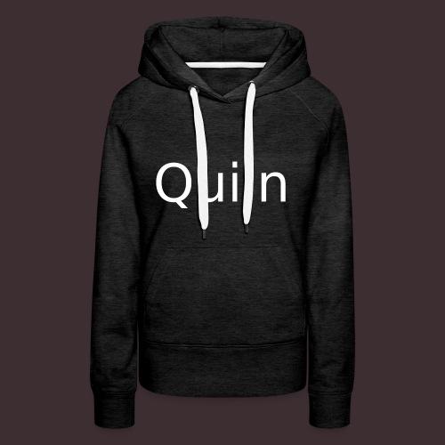 White_Quiin_outline - Frauen Premium Hoodie