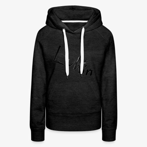 Lukin i sort - Dame Premium hættetrøje