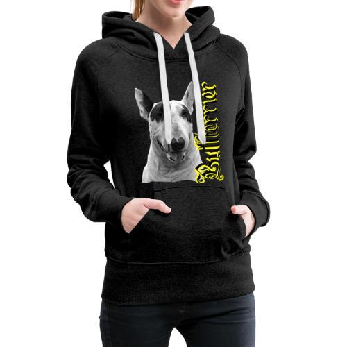 Bullterrier,Bulldog,Bulldogge,Hundekopf,Terrier, - Frauen Premium Hoodie