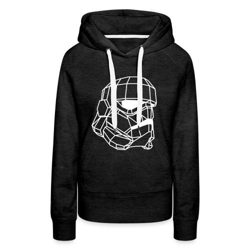 Male Stormtrooper Premium Geometrical sweater - Women's Premium Hoodie