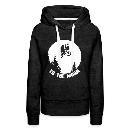 to the moon,bitcoin - Vrouwen Premium hoodie
