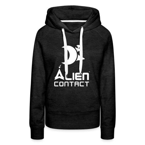 Alien Contact - Felpa con cappuccio premium da donna