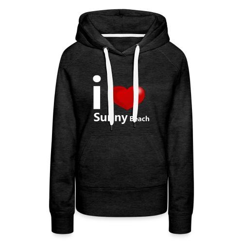 I love Sunny Beach 2 (white print) - Women's Premium Hoodie
