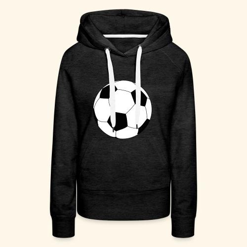 Ballon de football - Sweat-shirt à capuche Premium pour femmes
