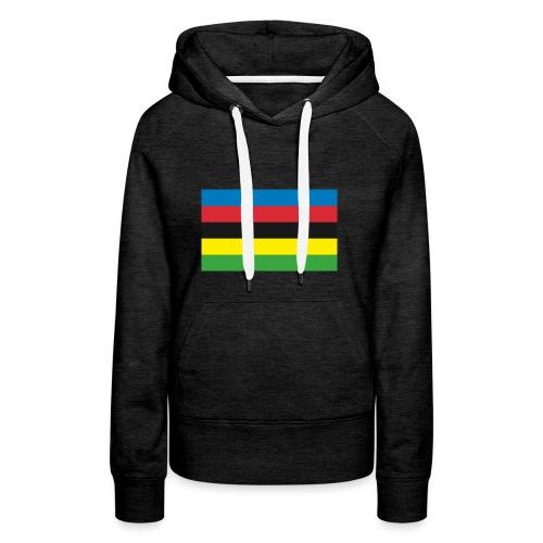 Cycling_World_Champion_Rainbow_Stripes-png - Vrouwen Premium hoodie