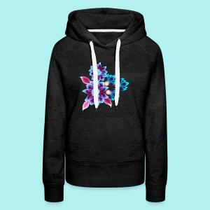 Hypnotic flowers - Sweat-shirt à capuche Premium pour femmes