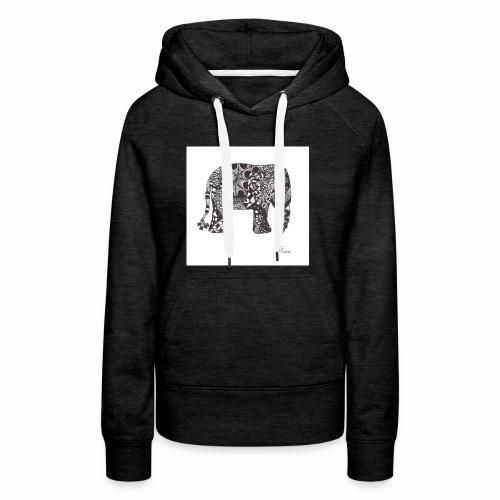 tangle-elephant print - Frauen Premium Hoodie