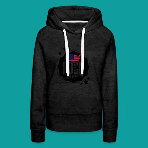 graphisme rock states - Sweat-shirt à capuche Premium pour femmes