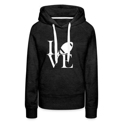 Love Symbol mit Football - Frauen Premium Hoodie