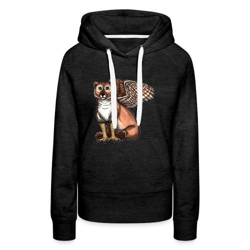 Bear Owl - The Cuter Cousin - Women's Premium Hoodie