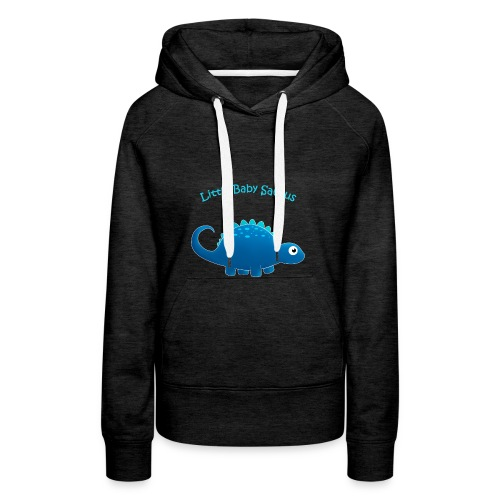 Blue Little Baby Saurus - Women's Premium Hoodie