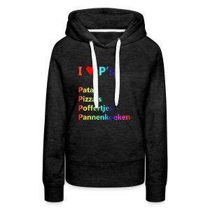 Ik hou van P kindershirt - Vrouwen Premium hoodie