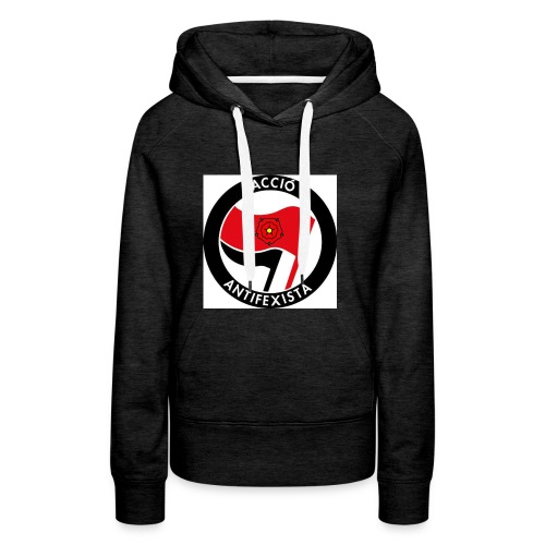 Acció Antifa - Sudadera con capucha premium para mujer