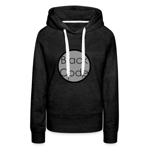 BlackCode Logo 2 - Sudadera con capucha premium para mujer