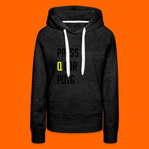 Press Q for play of the game - Women's Premium Hoodie