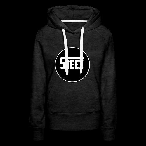 Steez logo white - Vrouwen Premium hoodie