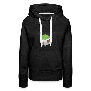 MineCraft 3D - Vrouwen Premium hoodie