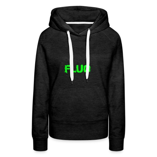 FLUO_trasparente - Felpa con cappuccio premium da donna
