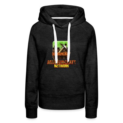 magliette DeliriumCraftNetWork - Felpa con cappuccio premium da donna
