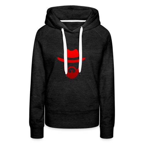 logo izicron rouge - Sweat-shirt à capuche Premium pour femmes